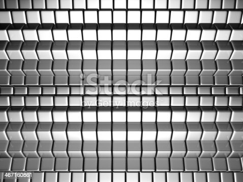 istock Dynamic cube silver background 467160861