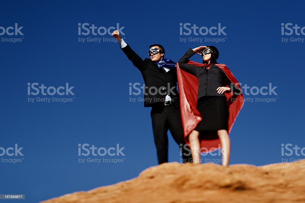 Dynamic Duo This business duo is ready to take on any challenge thrown their way. Utah RedRockalypse 2. Adult Stock Photo