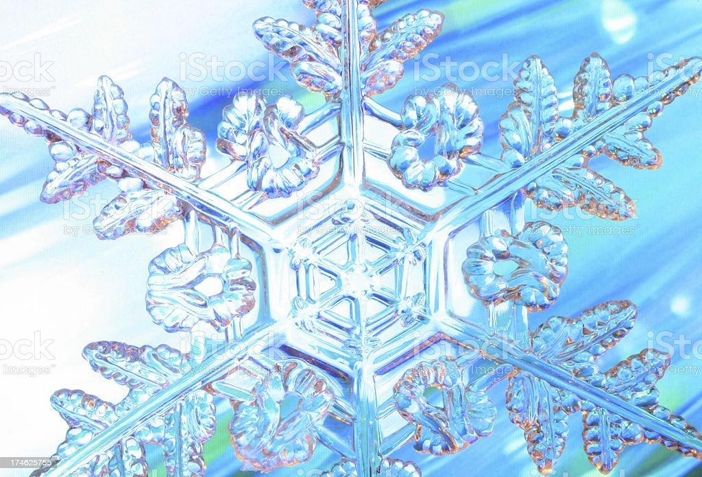 Dynamic Snowflake royalty-free stock photo