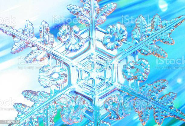 Dynamic Snowflake Stock Photo - Download Image Now