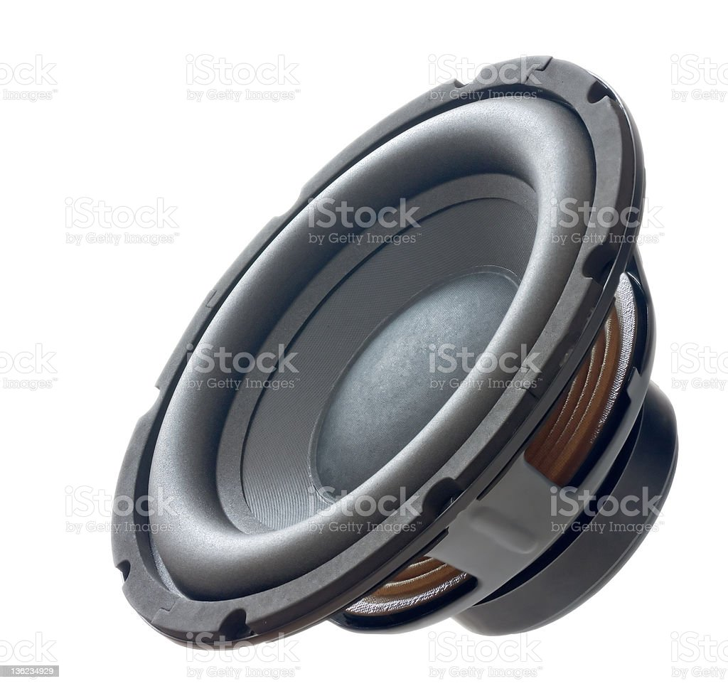 dynamic speaker(sub-woofer) royalty-free stock photo