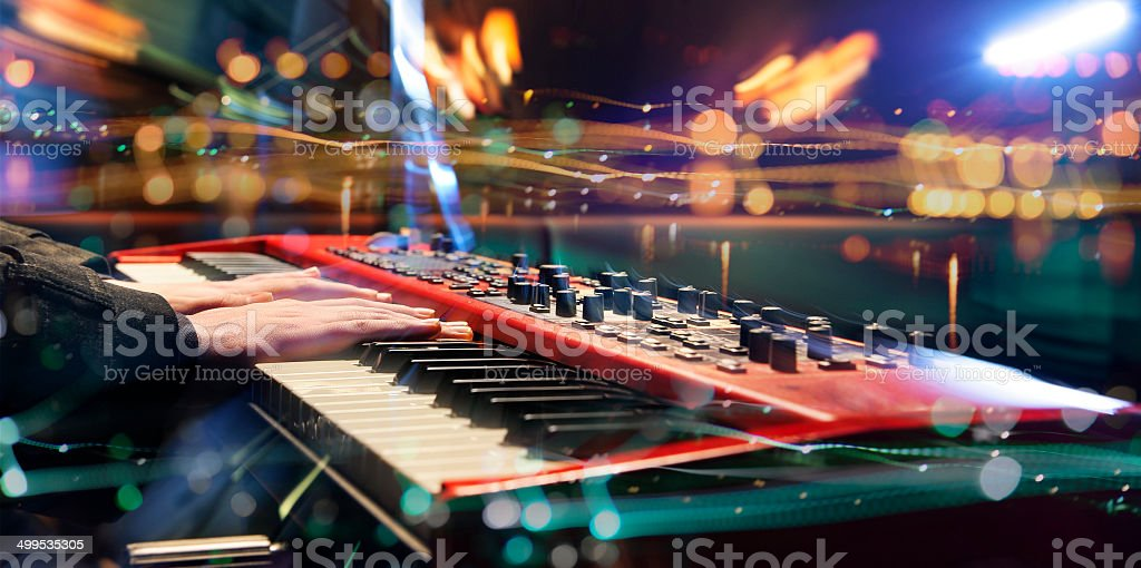 Dynamic synthesizer. stock photo