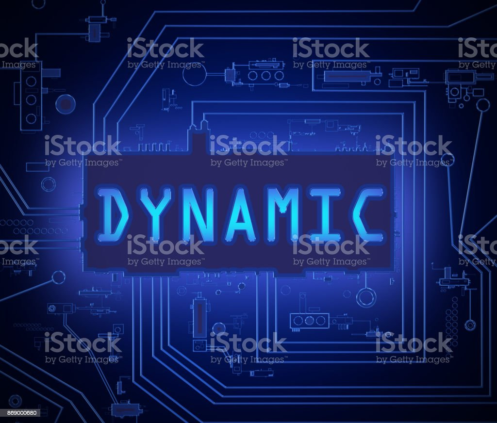 Dynamic tech concept. stock photo