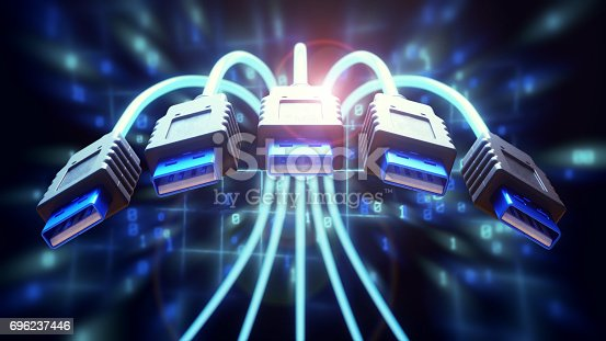 istock Dynamic USB Cables Close-Up 696237446