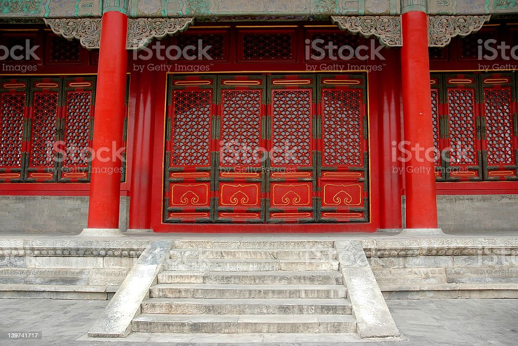 Dynasty Ming and Qing building royalty-free stock photo
