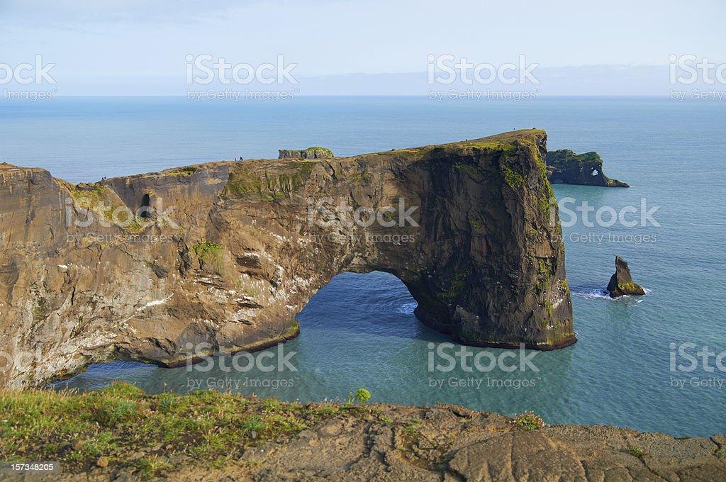 Dyrhólaey peninsula stock photo