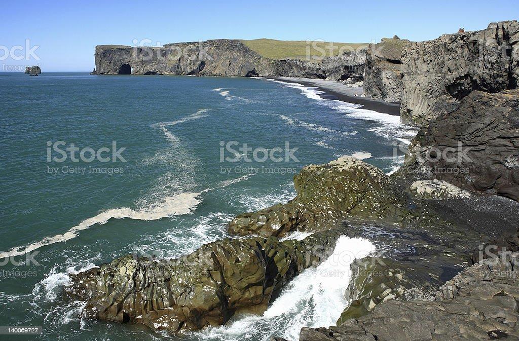Dyrholaey near Vik in Myrdal, Iceland royalty-free stock photo