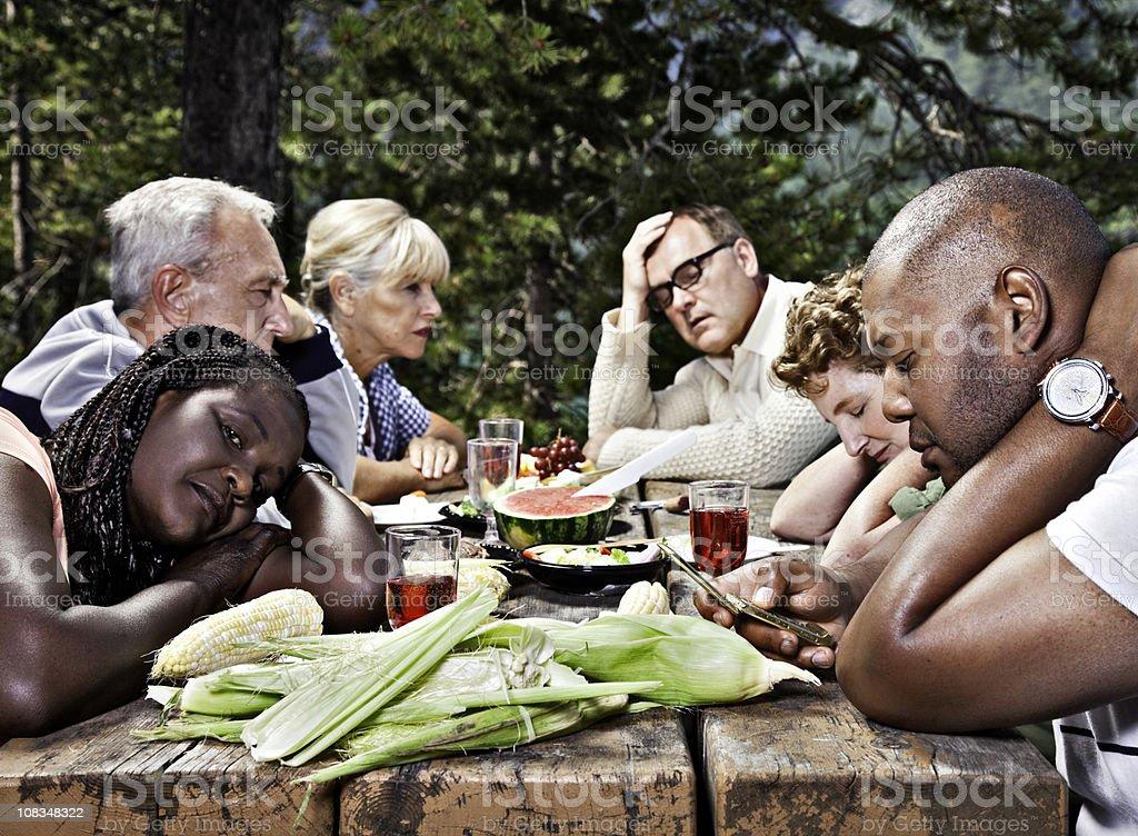 Dysfunctional Family Picnic stock photo
