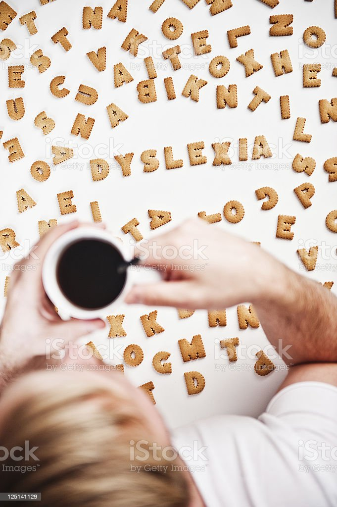 Dyslexia spelled in cookies royalty-free stock photo
