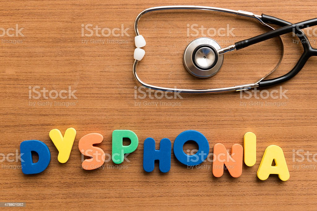 dysphonia stock photo