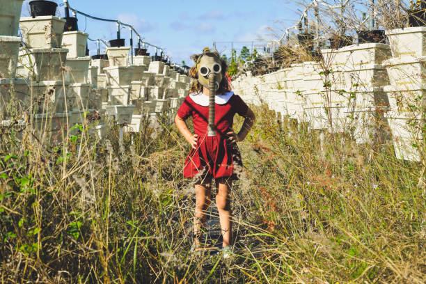 dystopia - plants of zombies stock-fotos und bilder