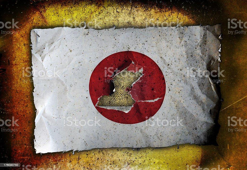 Dystortia: Japan Flag royalty-free stock photo