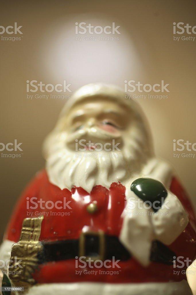 Dystortia Xmas: Antique Santa Ornament stock photo