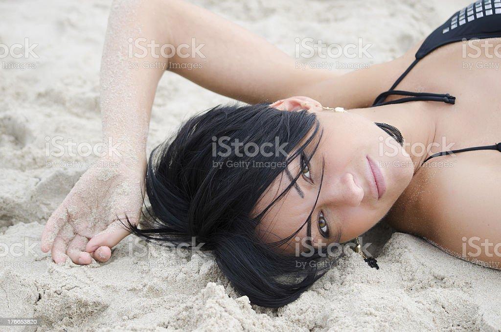 dziewczyna na plaży 2 royalty-free stock photo