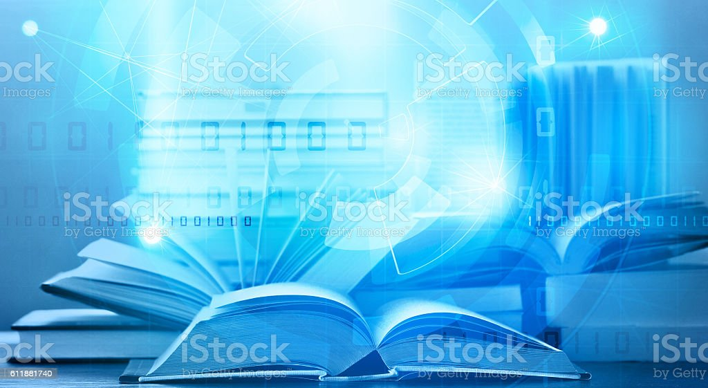 e book digital learning stock photo