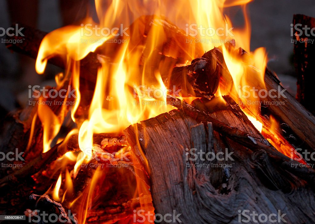 Each Campfire Lights Anew stock photo