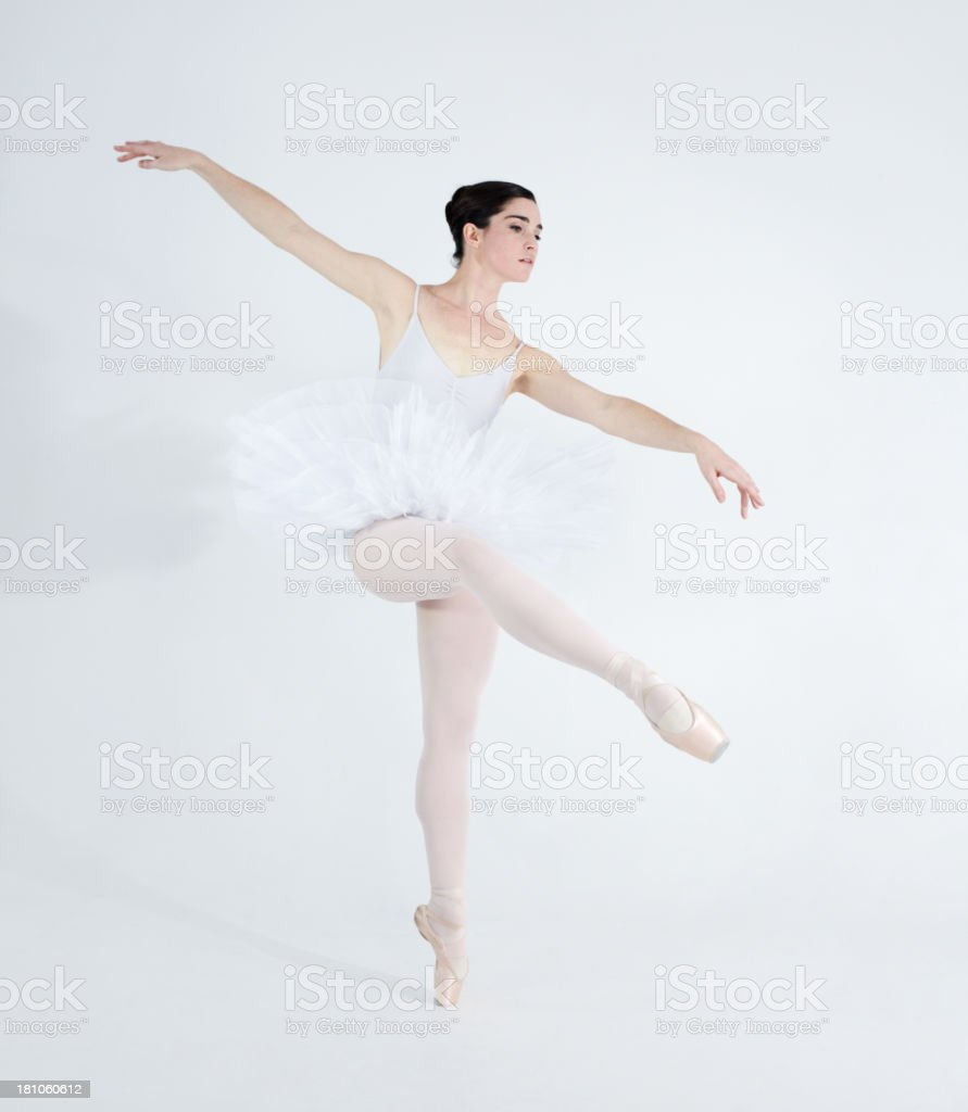 Each step expresses her love for dance royalty-free stock photo