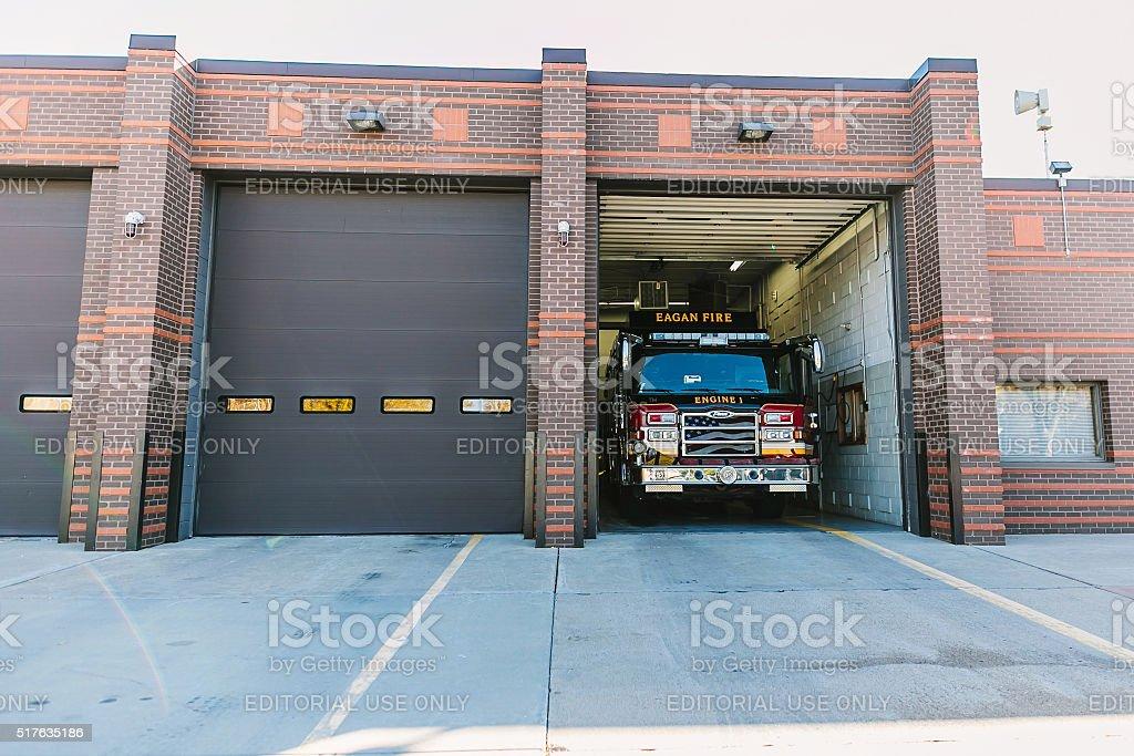 Minneapolis, USA - October 15, 2015: Eagan firestation stock photo
