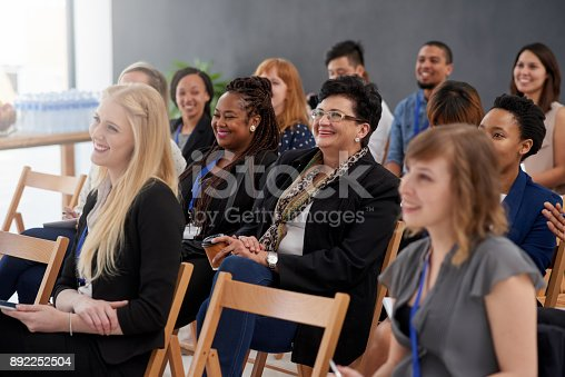 istock Eager to absorb the information 892252504