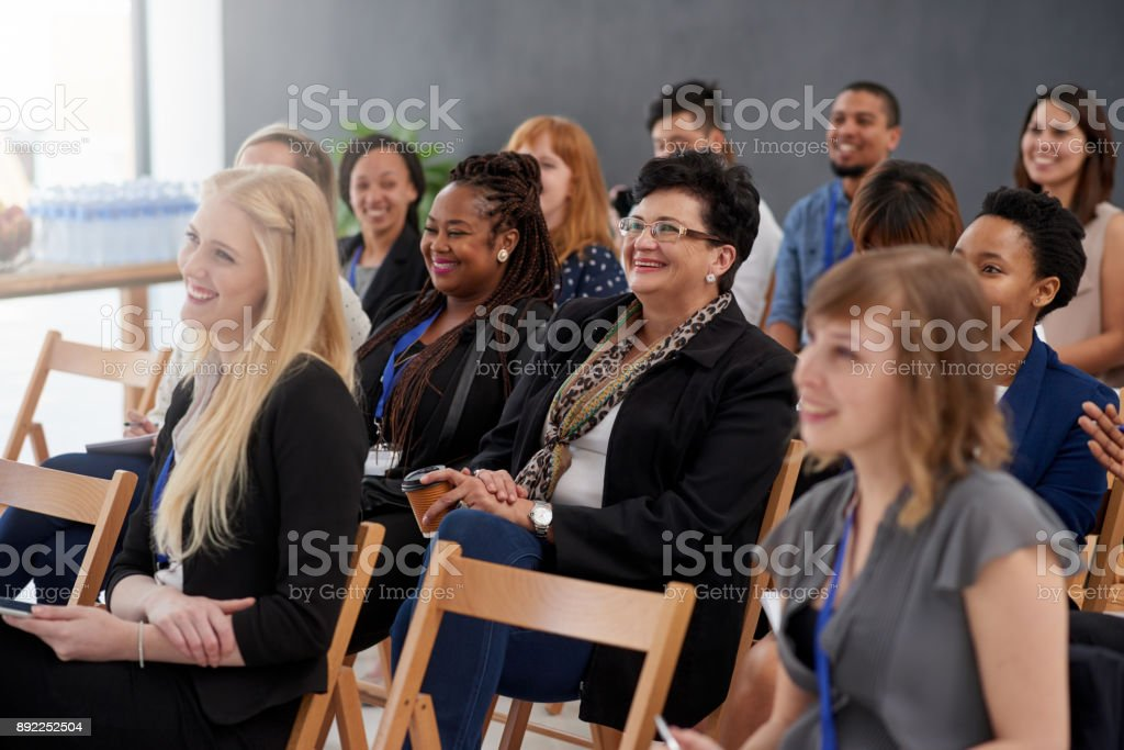 Eager to absorb the information stock photo