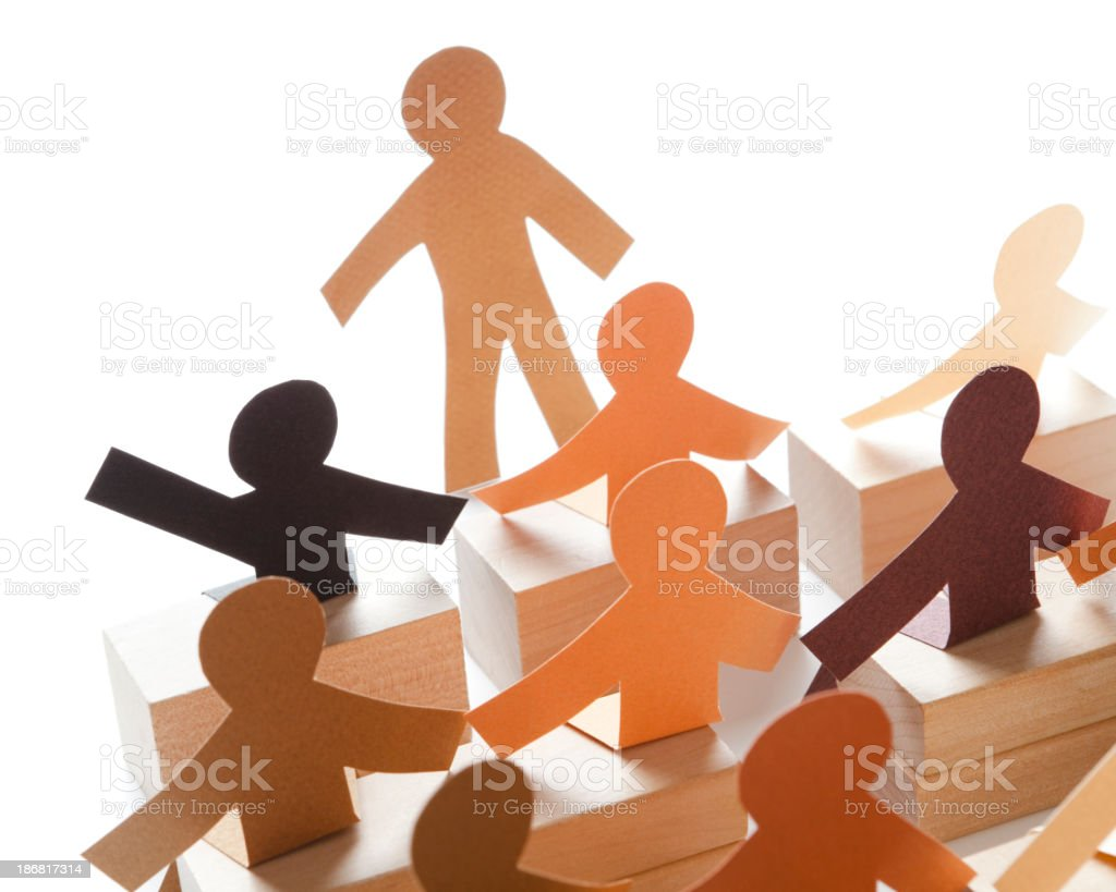 Eager to answer questions - class participation paper concept royalty-free stock photo