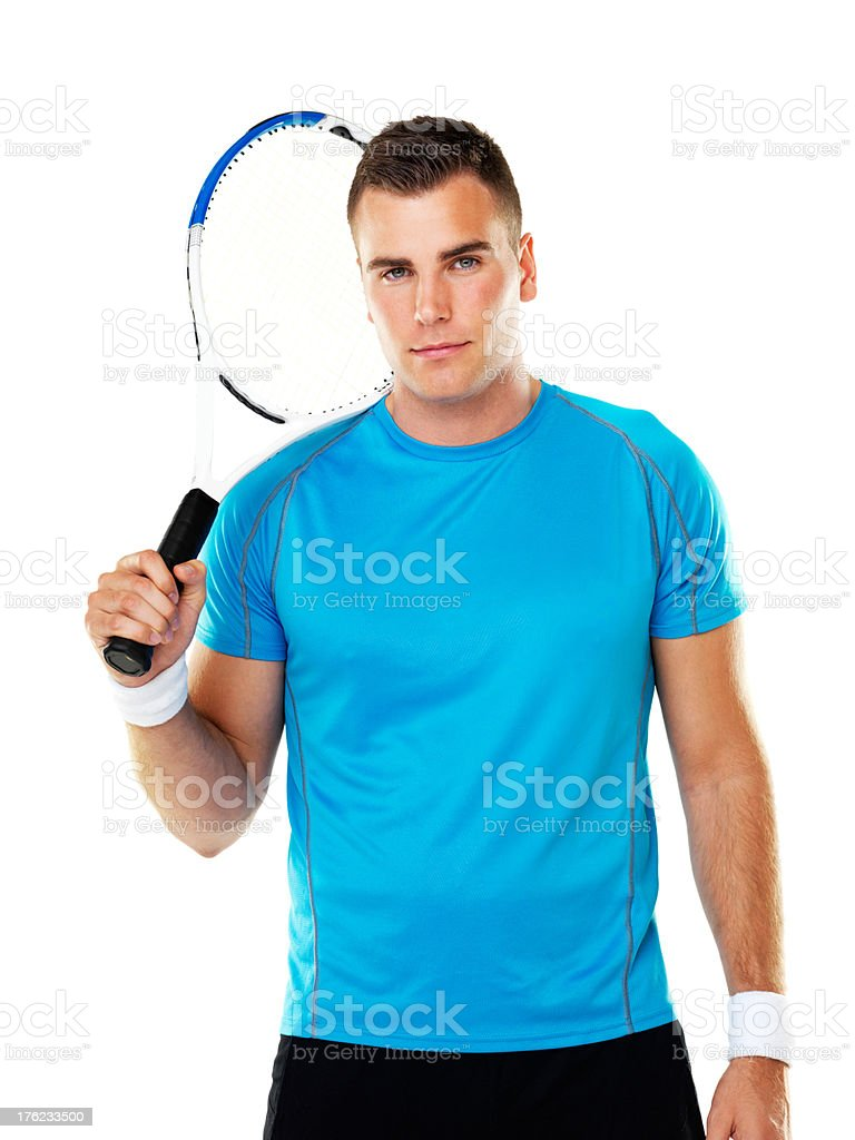 Eager to hit the courts royalty-free stock photo
