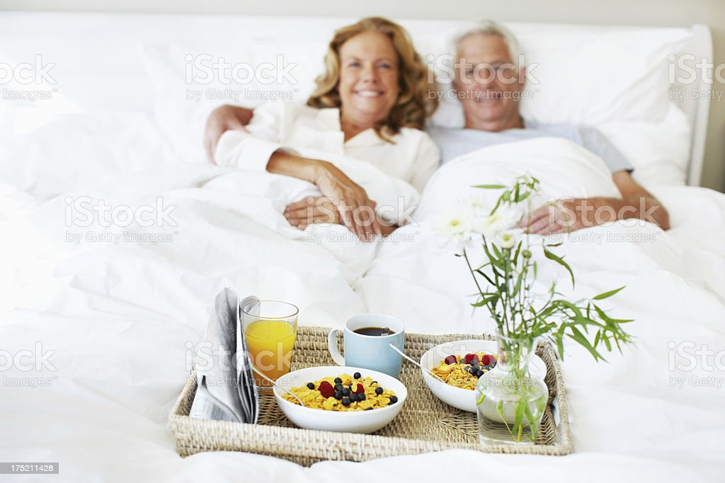 Eager to start their breakfast royalty-free stock photo