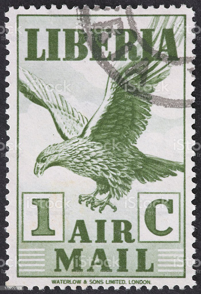 eagle airmail stamp royalty-free stock photo