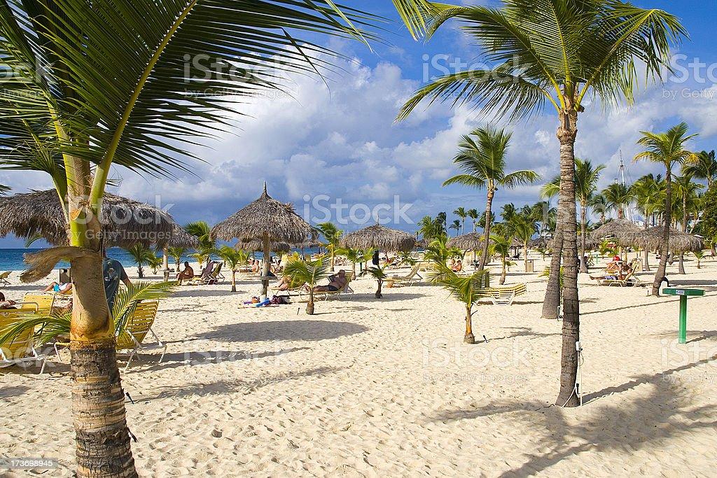Eagle Beach, Aruba stock photo