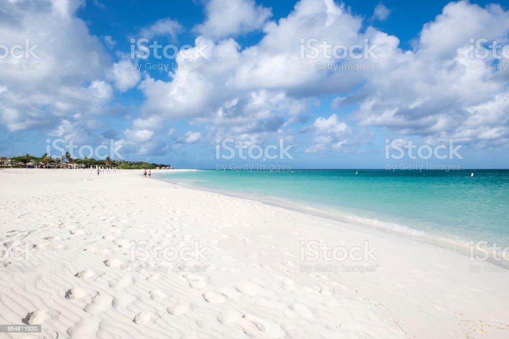 Eagle Beach Aruba, Southern Caribbean Island stock photo