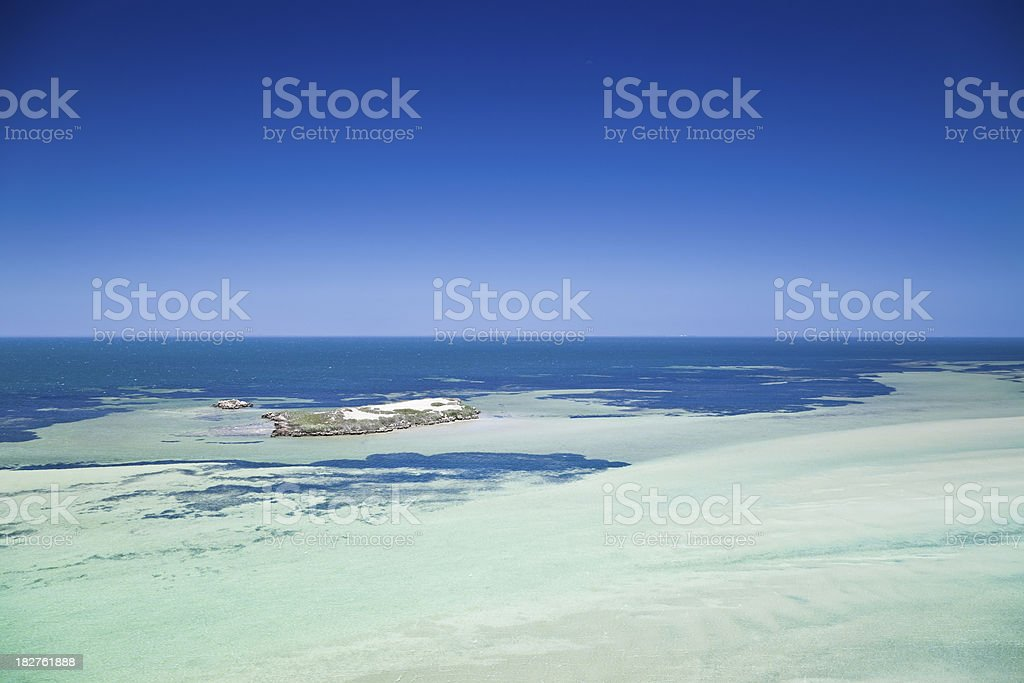 Eagle Bluff Shark Bay Ocean View stock photo