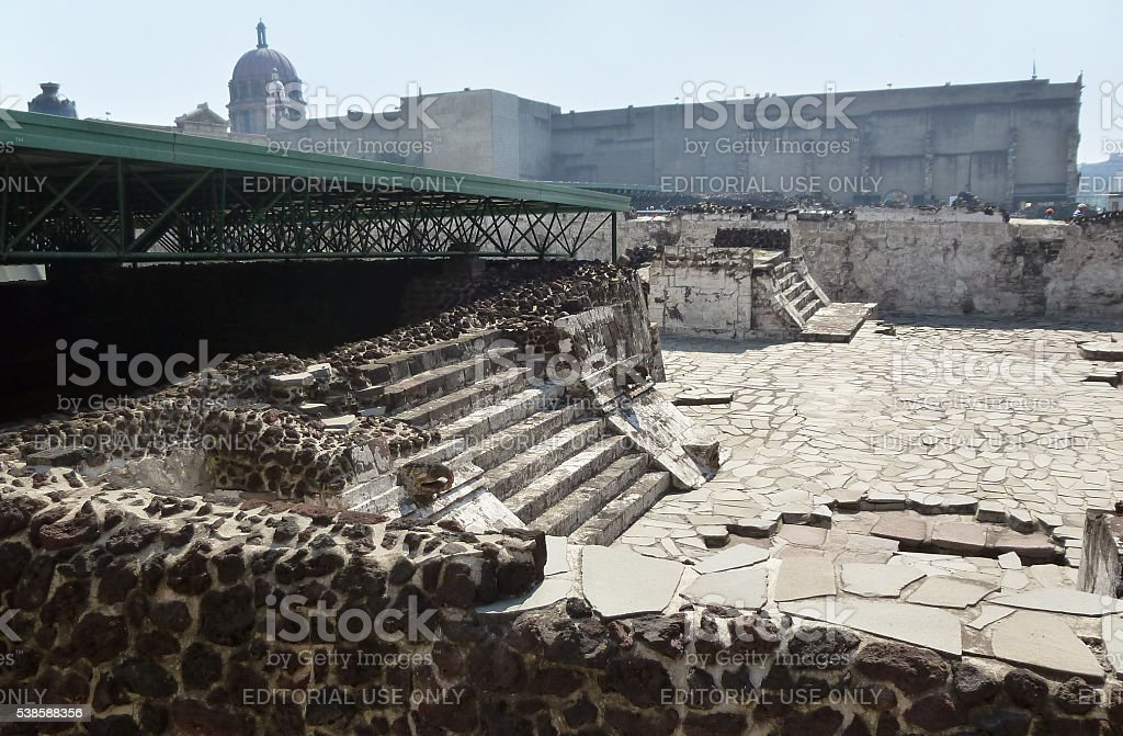 Eagle building in the Templo Mayor complex in Mexico City stock photo