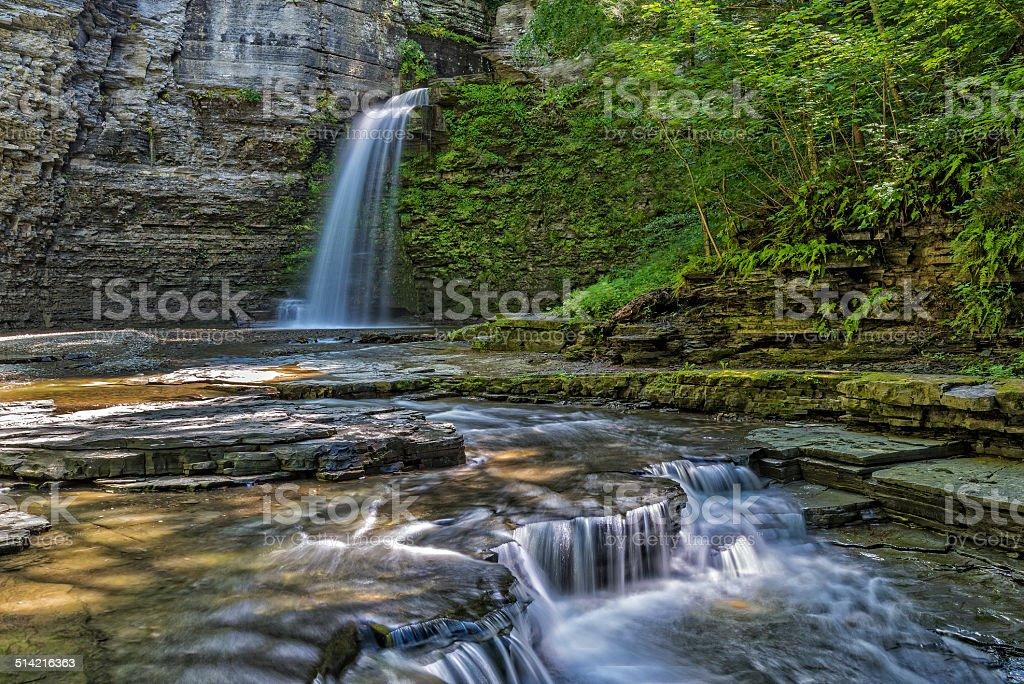 Eagle Cliff Falls stock photo