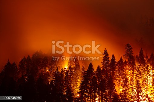 The Eagle Creek fire on the night of September 3rd 2017.