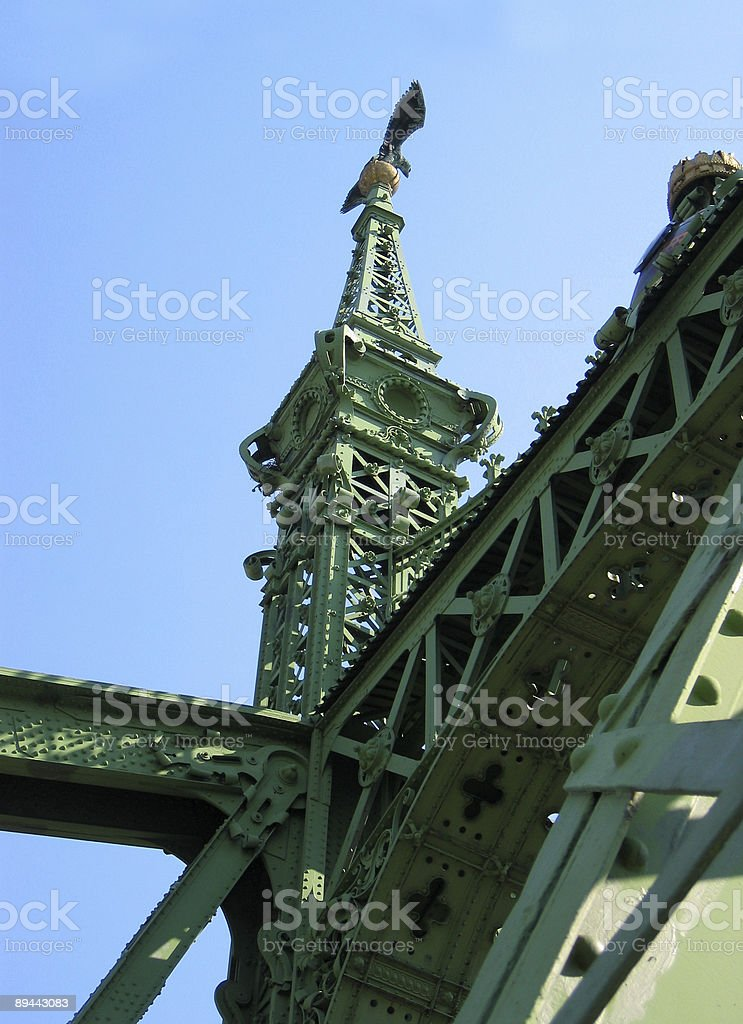 Eagle on the Bridge royalty-free stock photo