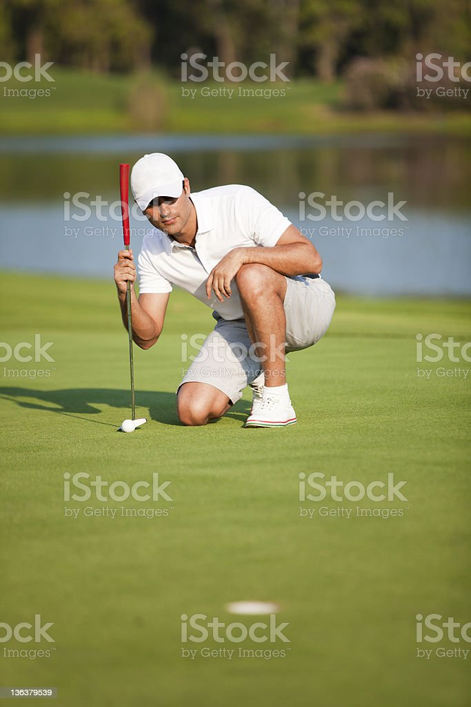 Eagle Putt royalty-free stock photo
