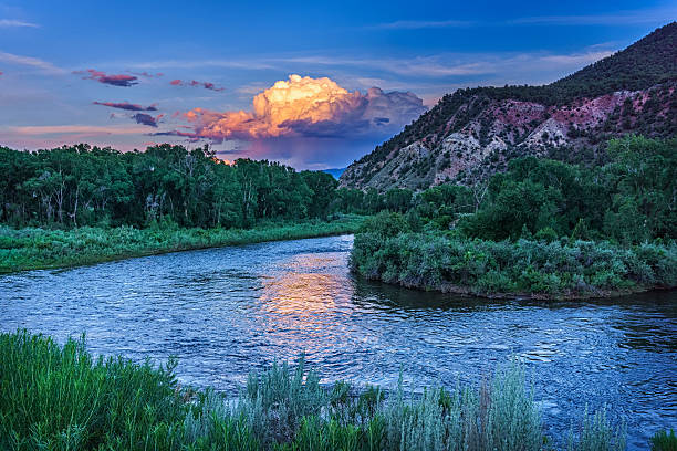 Eagle River Summer View stock photo