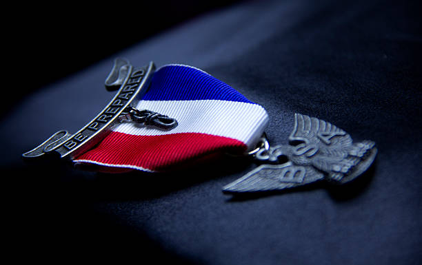 Eagle Scout Award stock photo