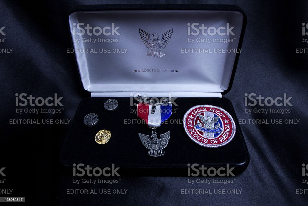 Eagle scout award set stock photo