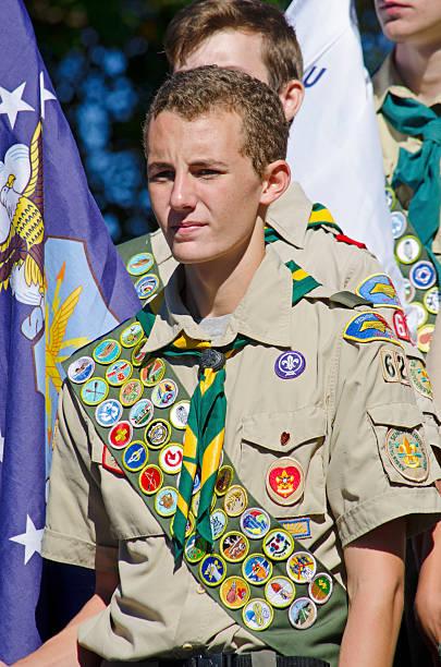 eagle scout - boy scout fotografías e imágenes de stock