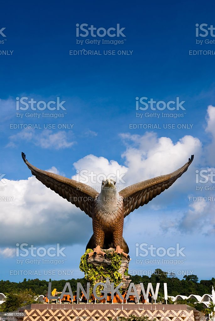 Eagle Square in Langkawi stock photo