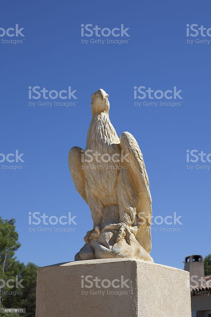 eagle statue beaucaire france royalty-free stock photo