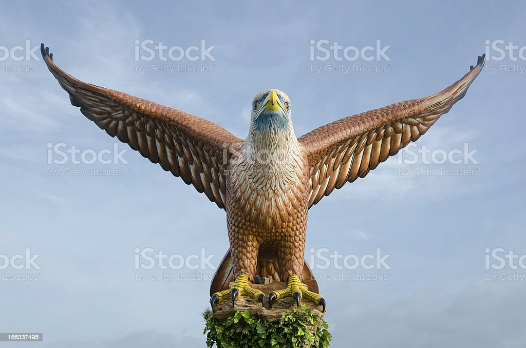 Eagle statue, the symbol of Langkawi island, Malaysia stock photo