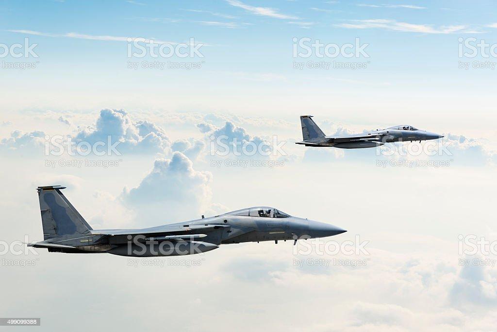 F-15 Eagles in Flight bildbanksfoto