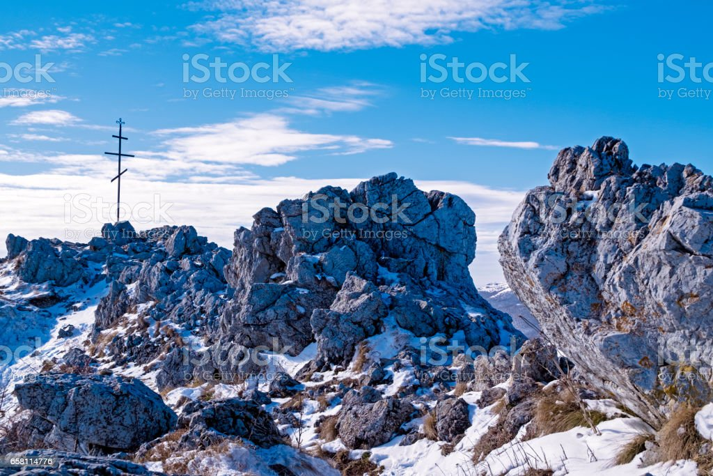 Eagle's Nest at Shipka peak, Bulgaria stock photo