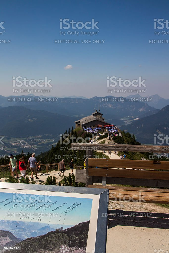 Eagle's Nest at the Kehlstein, Obersalzberg in Germany, 2015 stock photo