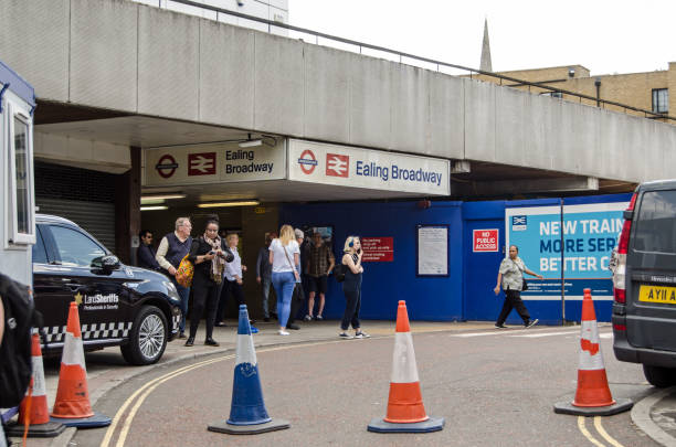 Ealing Broadway Station entrance stock photo