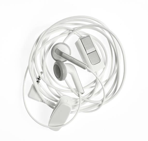 Ohrhörern Wunde mit clipping path – Foto