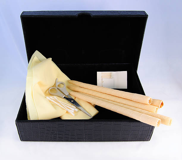 ear candling supplies - hopi stock photos and pictures