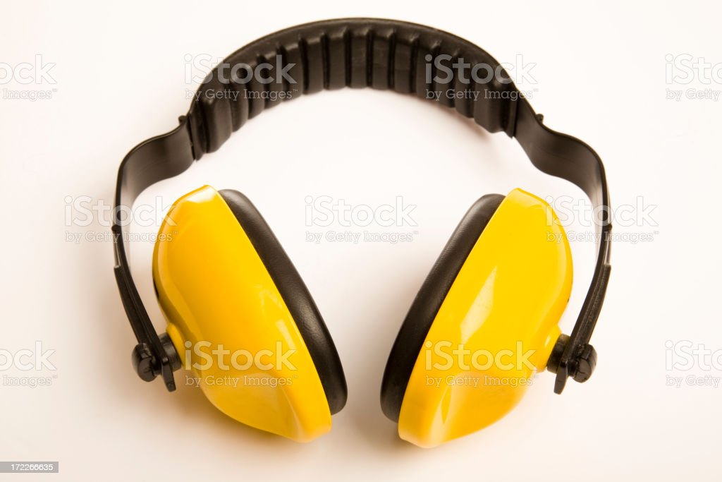 Ear defenders stock photo